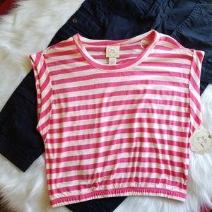 🆕️ Pink & White Stripe Crop Top